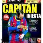 Mundo Deportivo: Capitan Iniesta