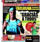 Mundo Deportivo: Grande festa al Camp Nou