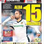 Mundo Deportivo: Jordi Alba 15 milioni