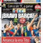 Mundo Deportivo: Inizia l'era di Tito