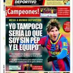 """Mundo Deportivo: Messi dichiara: """"Non sarei quel che sono senza Guardiola ed i miei compagni"""""""