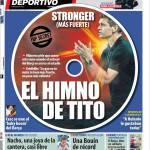 Mundo Deportivo: Più forte, l'inno di Tito