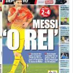 """Mundo Deportivo: Messi """"O Rei"""""""