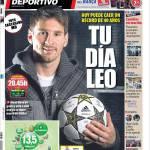 Mundo Deportivo: E' il tuo giorno Leo