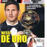 Mundo Deportivo: Messi de Oro