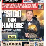 """Mundo Deportivo: """"Ho ancora fame"""""""