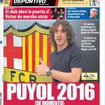 Mundo Deportivo: Puyol 2016