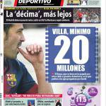 Mundo Deportivo: Villa, minimo 20 milioni