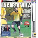 Mundo Deportivo: La carta Villa