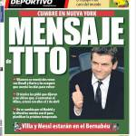 Mundo Deportivo: Messaggio da Tito