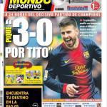 """Mundo Deportivo: """"3 a 0 per Tito"""""""