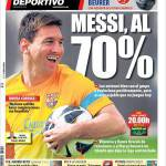 Mundo Deportivo: Messi al 70%
