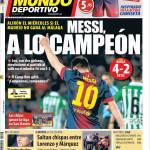 Mundo Deportivo: Messi, il campione