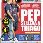 Mundo Deportivo: Pep si prende Thiago