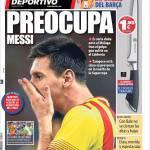 Mundo Deportivo: Preoccupa Messi