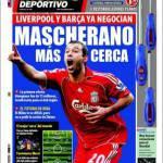 El Mundo Deportivo: Barcellona e Liverpool trattano Mascherano