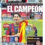Mundo Deportivo: Barcellona-Milan, gioca il campione