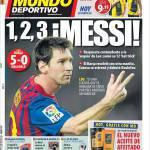 Mundo Deportivo: 1,2,3 Messi!