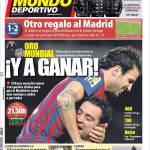 Mundo Deportivo: Oro mondiale e vincere!