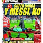 Mundo deportivo: Super Barça e Messi ko
