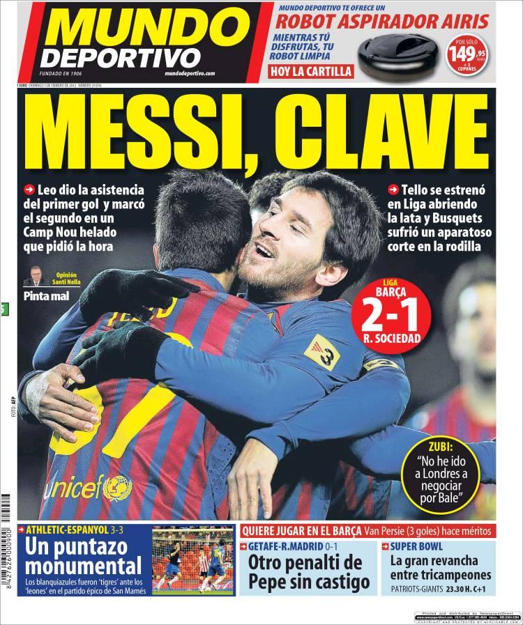 mundodeportivo.75071 Mundo Deportivo, Messi chiave