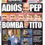 Mundo Deportivo: Addio Pep, bomba Tito