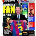 Mundo Deportivo: Beckenbauer fan di Piquè