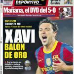 Mundo Deportivo: Xavi Pallone d'Oro
