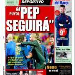 "Mundo Deportivo: Puyol ""Pep continuerà"""