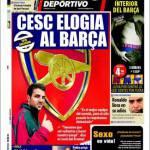 Mundo Deportivo: Cesc elogia il Barcellona