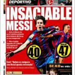 El Mundo Deportivo: Insaziabile Messi