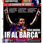 """Mundo Deportivo: Fabregas """"Voglio solo il Barça"""""""
