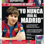"""Mundo Deportivo: Messi """"Non potrei mai giocare nel Real Madrid"""""""