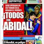 Mundo Deportivo: Tutti con Abidal