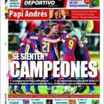 Mundo Deportivo: Si sentono campioni