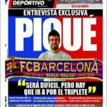 """Mundo Deportivo: Piquè """"Sarà difficile ma puntiamo al triplete"""""""