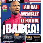 El Mundo Deportivo: Per Abidal, per Wembley, per il calcio