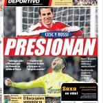 Mundo Deportivo: Fabregas-Sanchez, pressione