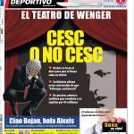 """Mundo Deportivo: Il teatro di Wenger """"Cesc o non Cesc"""""""
