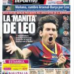 Mundo Deportivo: La manita di Leo
