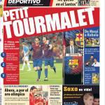 "Mundo Deportivo: Neymar ""Resto al Santos"""