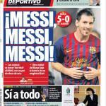 Mundo Deportivo: Messi, Messi, Messi