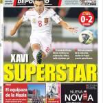Mundo Deportivo: Xavi superstar