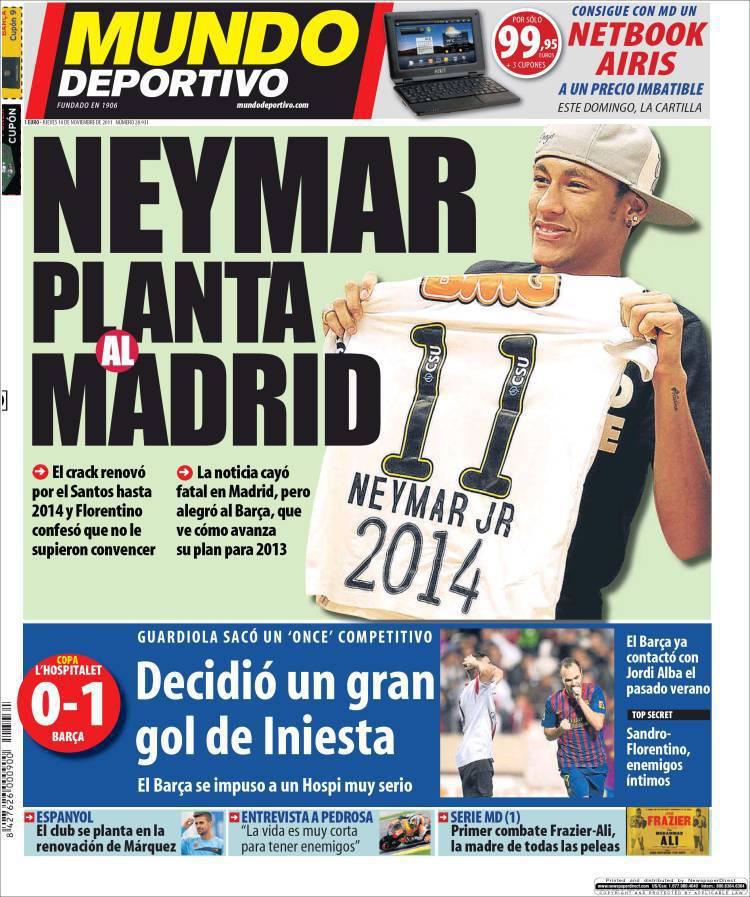mundodeportivo 750383 Mundo Deportivo: Neymar sorprende il Real Madrid