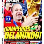 """El Mundo Deportivo: """"Campioni del mondo"""""""