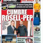 Mundo Deportivo: Vertice Rosell-Pep