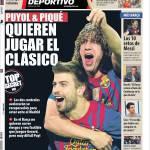 Mundo Deportivo: Puyol&Piquè, quieren jugar del clasico