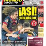 Mundo Deportivo: Bene, con il maggiore obiettivo