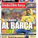 Mundo Deportivo: Lo dedico al Barcellona