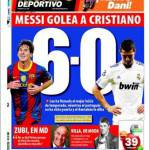 Mundo Deportivo: Messi batte Cristiano 6-0